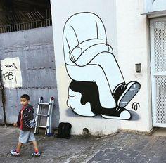São Paulo, Brasile: nuovo pezzo dello street artist brasiliano Mauro Golin aka Muretz. LINK UTILI: Muretz su questo blog Muretz – Website Muretz – Instagram Muretz – Facebook