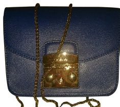 77d5deda652 Furla Blue Leather Shoulder Bag. Get one of the hottest styles of the  season!