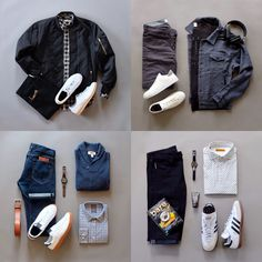 Casual combos with sneakers.  I like the classic style sneakers!  Follow @runnineverlong on Instagram for more inspiration   #sneakers #streetstyle #casual #menswear