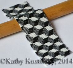 Beaded 3D Illusion 2 Bracelet Pattern at Bead-Patterns.com