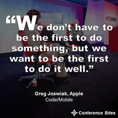 Greg Joswiak at #codemobile