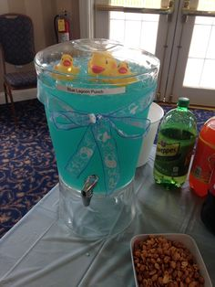 Blue lagoon champagne punch at Mel's shower Blue Lagoon, Punch, Champagne, Baby Shower, Homemade, Babyshower, Home Made, Baby Showers, Hand Made