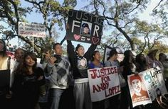 Lopez joins hundreds of protesters at Santa Rosa Junior College demanding justice for Andy Lopez Cruz in Santa Rosa
