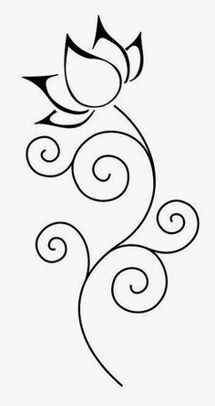 lotus flower stencils free - Google Search: