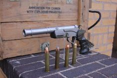 """Match Grade Machine custom barrel """"Here is a photo of the 577 Nitro Express barrel an completed pistol as well as some ammo. Weapons Guns, Guns And Ammo, Glock Guns, Nitro Express, Thompson Center, Custom Guns, Fire Powers, Hunting Rifles, Cool Guns"""
