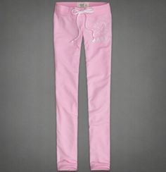 Abercrombie Fitch A F Hollister Skinny Sweatpants Pink Large | eBay
