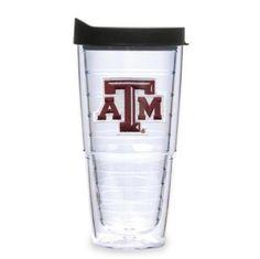 Texas A&M Aggies 24oz Clear Lid Tumbler