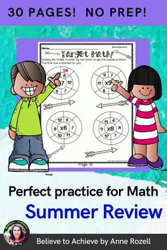 It's important to keep those math skills strong during the summer! Your students or your own children will have fun while working on math skills with this set of 30 practice pages!This resource could be used for end of year or summer practice!Just print and use!Here's what is included:✔Cover for students to color✔Table of Contents✔30 pages of practice✔30 pages of answer keys▶Digital version to use with your students