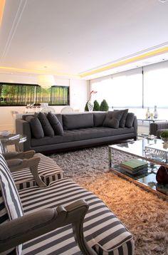 8 salas de estar de cor cinza