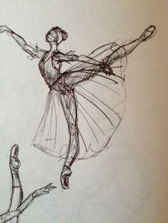 Ballerina. Arabesque. MGV