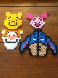 Winnie the Pooh perler bead magnet set. $10.00, via Etsy.