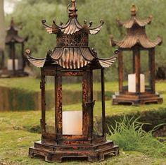 Pagoda Hurricane Lamps
