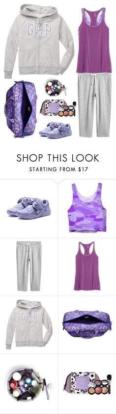"""""""Travel Well"""" by musicfriend1 ❤ liked on Polyvore featuring Puma, Gap, Vera Bradley and Laura Geller"""