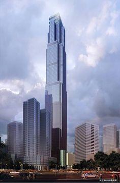 431 meters/1414 feet/102 floors; Chongqing International Financial Center (Chongqing, China)