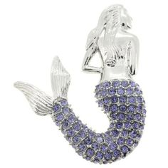 7f1c8ff43cc2 Rose Mermaid Pin Brooch Pendant (Purple Mermaid Pin and Pendant)