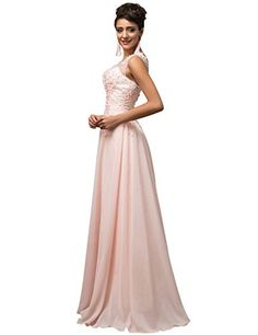 Grace Karin® Women V-Back Beads Long Gown Evening Prom Dress CL7555 List Price: $80.99 Buy New: $36.78 - $70.99