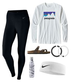 """Beach days "" by abbyveith on Polyvore featuring NIKE, Patagonia, Birkenstock and Lokai"