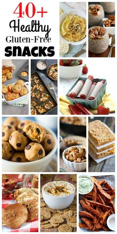 Over 40 Healthy Gluten Free Snack Recipes - from sweet to savory, healthy snacks can still be easy and delicious.