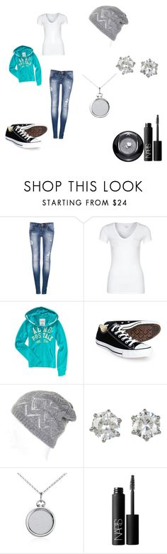 """""""Volcano"""" by star1901 ❤ liked on Polyvore featuring Pull&Bear, Majestic, Aéropostale, Converse, Juicy Couture, Blue Nile, NARS Cosmetics and Lancôme"""