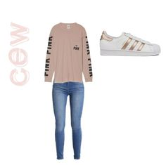 """CEW"" by liblobrox ❤ liked on Polyvore featuring Victoria's Secret and adidas"
