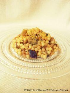 Petite Cuillère et Charentaises: Fregola aux Aubergines et à la Bottarga