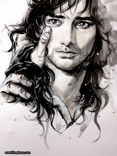 I don't even like Kili all that much, but a little part of me died when I saw this. This is beautiful fanart.