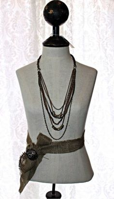 """Multi Strand 28"""" Necklace with Brass Chain and Leather- $22! Use the code: Pinlove for 25% off! #OneIsNotEnough #MultiStrand #Necklace #FunFashion"""