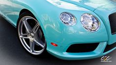 Celeste Blue Pearlescent Bentley Continental GTC Limited Edition.. Love it!