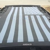 Tactical American Flag Spiderweb Shade for 2007-Present JKU