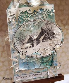 love, life and crafts Rudlis: Mroźno, śnieżnie - grudniowy tag