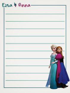Cuaderno de Frozen para Imprimir Gratis. | Ideas y material gratis para fiestas y celebraciones Oh My Fiesta!