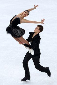 Elena Ilinykh and Nikita Katsalapov of Russia compete in the Figure Skating Ice Dance Free Dance #icedancing #Eistanz #buzdansı