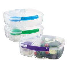 Give yourself three times the menu options with our Lunch Triple Split container.