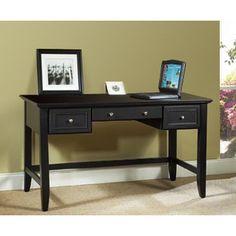 Home Styles Bedford Black Executive Desk | Overstock.com Shopping - The Best Deals on Desks