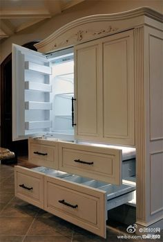 Fridge that can fit homes with Victorian style deco