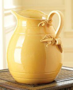 Yellow pitcher vase