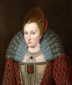 Portrait d'Anne du Danemark, reine consort d'Angleterre, d'Irlande et d'Écosse, vers 1600 peintre anonyme