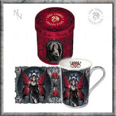Mug~'Aracnafaria' Gothic Fairy Mug Gift Boxed - Anne Stokes Design~By Folio Gothic Hippy Anne Stokes, Gothic Hippie, Hippie Bohemian, Dark Fantasy, Dragons, Gothic Fairy, Fantasy Dragon, Gothic Beauty, Faeries