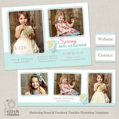 Bundle Spring Mini Session Template and by ClickChicksDesigns, $12.00