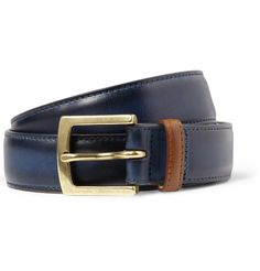 PAUL SMITH SHOES & ACCESSORIES BURNISHED LEATHER BELT