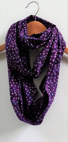 Purple Infinity Scarf 8 Wide 70 Loop Lavender