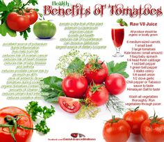 Tomatoes Nutrition Facts And Health Benefits - Creviour Health Benefits Of Tomatoes, Fruit Benefits, Tomato Benefits, Healthy Tips, Healthy Eating, Healthy Recipes, Healthy Food, Easy Recipes, Health And Nutrition