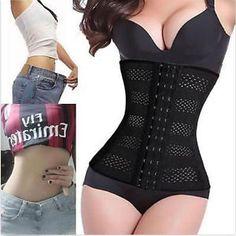 f8fc4e18ccc Women Body Shaper Slimming Waist Trainer Cincher Underbust Corset Belt  Shapewear Latex Waist Trainer