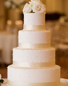 WeddingChannel Galleries: White Wedding Cake - pretty all white cake but may be too plain. WeddingChannel Galleries: White Wedding Cake - pretty all white cake but may be too plain. Wedding Cake Pearls, Wedding Cake Fresh Flowers, White Wedding Cakes, Elegant Wedding Cakes, Beautiful Wedding Cakes, Wedding Cake Designs, Wedding Cake Toppers, Beautiful Cakes, Gold Wedding