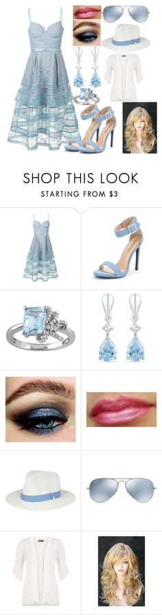"""A Walk in the Park"" by kiara-fleming ❤ liked on Polyvore featuring self-portrait, Laura Ashley, Melissa Odabash, Ray-Ban and WearAll"