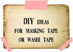 masking tape & washi tape ideas. scroll way down -- love the gift card holders with simple jute tie.