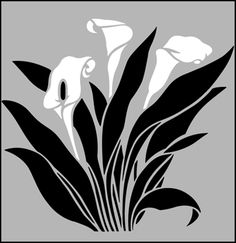 Click to see the actual GR42 - Arum Lily  stencil design.