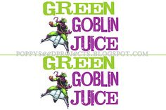 Free printables for Goblin Juice and Spiderman Power Punch for Spiderman Birthday parties. #spiderman birthday parties #spiderman printables