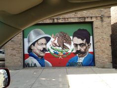 Another neighborhood garage door!  Art in the most unusual places. You'll find this everywhere in Pilsen.
