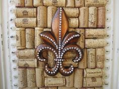 Wine cork idea...different Fleur De Lis though...